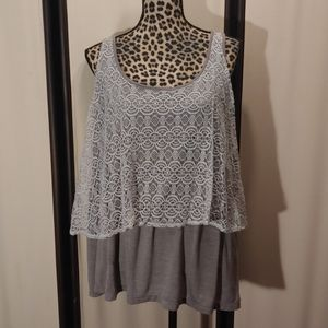 Torrid buttery soft layered tank Size 2